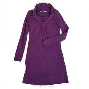 Athleta cowl neck athleisure dress plum purple S